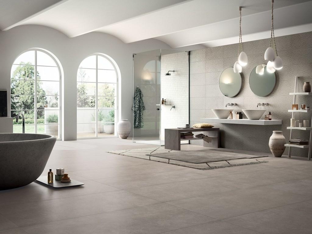 Pavimenti in gres porcellanato effetto pietra leccese poesia - Posare piastrelle bagno ...